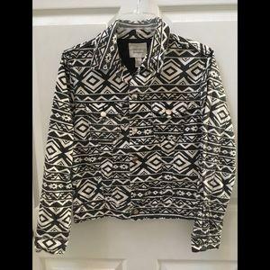 Forever 21 Denim Black & White Jean Jacket
